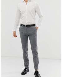 Мужские серые классические брюки в клетку от Burton Menswear
