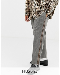 Мужские серые классические брюки в клетку от Collusion