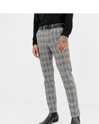 Мужские серые классические брюки в клетку от Heart & Dagger