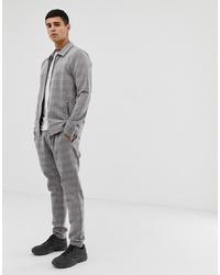 Мужские серые классические брюки в клетку от Jack & Jones