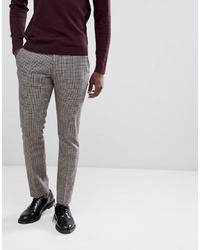 Мужские серые классические брюки в клетку от Selected Homme