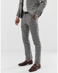 Мужские серые классические брюки в клетку от Twisted Tailor
