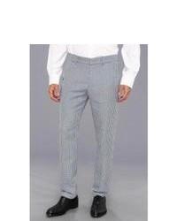 Серые классические брюки в мелкую клетку