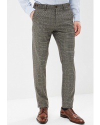 Мужские серые классические брюки в шотландскую клетку от Angelo Bonetti