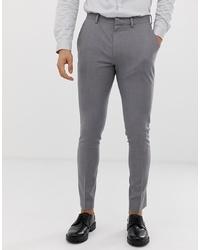 Мужские серые классические брюки от ASOS DESIGN