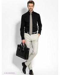 Мужские серые классические брюки от Donatto