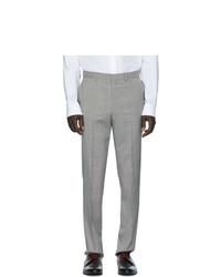 Мужские серые классические брюки от Hugo