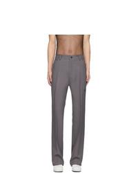 Мужские серые классические брюки от Random Identities