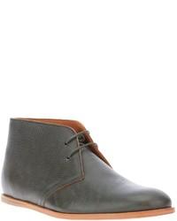 Серые кожаные ботинки дезерты
