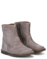Детские серые кожаные ботинки для мальчику от Pépé