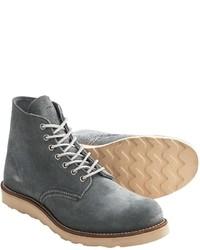 Серые кожаные повседневные ботинки