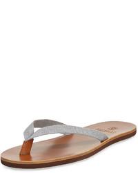 Серые кожаные сандалии