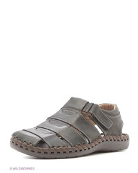 Мужские серые кожаные сандалии от Spur