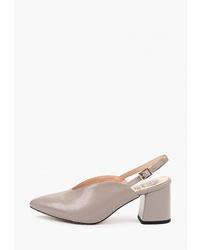 Серые кожаные туфли от Inario