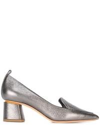 Женские серые кожаные туфли от Nicholas Kirkwood