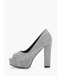 Серые кожаные туфли от Redgem