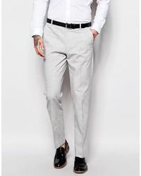 Мужские серые льняные классические брюки от Asos