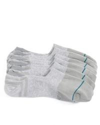 Серые носки-невидимки