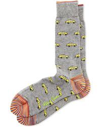 Серые носки с принтом