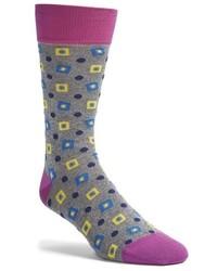Серые носки с ромбами