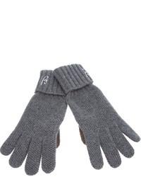 Мужские серые перчатки от Brioni