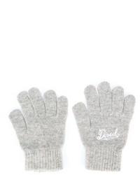 Детские серые перчатки для девочке от Diesel