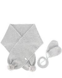 Детские серые перчатки для девочек от Tartine et Chocolat