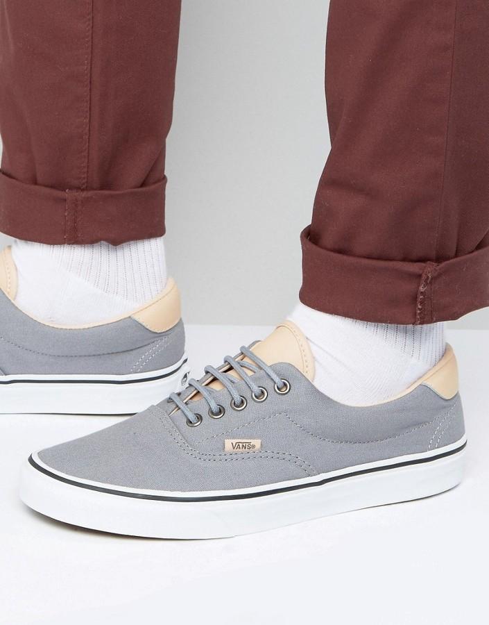 Мужские серые плимсоллы от Vans   Где купить и с чем носить c39603451e7