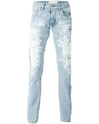 1b926151983 Купить мужские серые рваные джинсы Dolce   Gabbana - модные модели ...