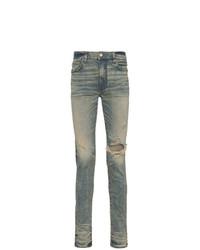 Мужские серые рваные зауженные джинсы от Amiri
