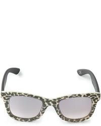 Женские серые солнцезащитные очки с леопардовым принтом от Italia Independent
