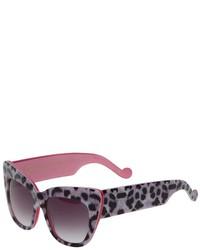 Женские серые солнцезащитные очки с леопардовым принтом от Karlsson