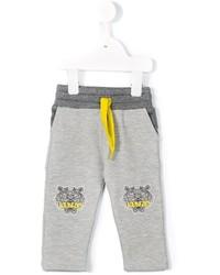 Детские серые спортивные штаны с принтом для мальчику от Kenzo