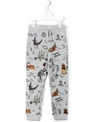 Детские серые спортивные штаны с принтом для мальчику от Stella McCartney
