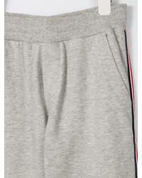 Детские серые спортивные штаны для мальчиков от Moncler