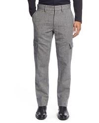 Серые шерстяные брюки карго