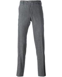 Серые шерстяные брюки чинос