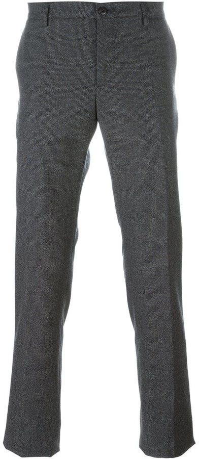 Серые шерстяные брюки чинос от Etro