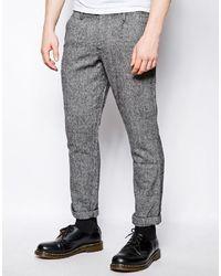 Серые шерстяные брюки чинос от Farah