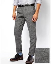 Серые шерстяные брюки чинос от Minimum