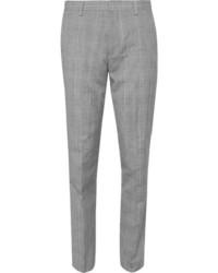 Мужские серые шерстяные классические брюки в шотландскую клетку от J.Crew
