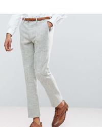 """Мужские серые шерстяные классические брюки с узором """"в ёлочку"""" от Asos"""