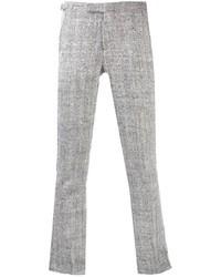 Серые шерстяные классические брюки
