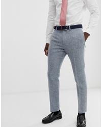 Мужские серые шерстяные классические брюки от ASOS DESIGN