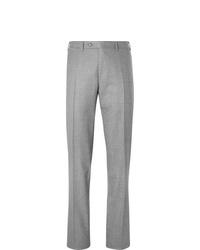 Мужские серые шерстяные классические брюки от Canali