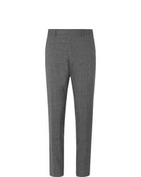 Мужские серые шерстяные классические брюки от Hugo Boss