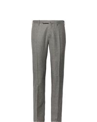 Мужские серые шерстяные классические брюки от Incotex
