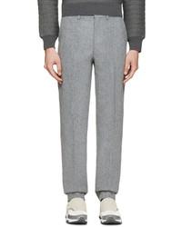 Мужские серые шерстяные классические брюки от John Lawrence Sullivan