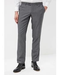 Мужские серые шерстяные классические брюки от Marcello Gotti