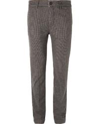 Мужские серые шерстяные классические брюки от Massimo Alba